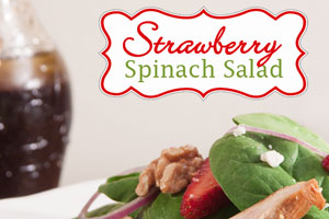 Let your taste buds know it's spring with this strawberry spinach salad. Get the refreshingly light recipe on Texas Table Top.