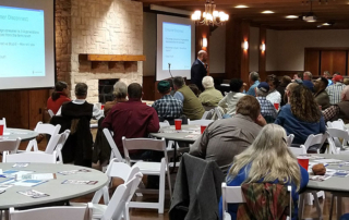 Four County Farm Bureaus recently partnered with the Texas A&M AgriLife Extension Service to bring a night of networking, fellowship and learning to area young farmers and ranchers.