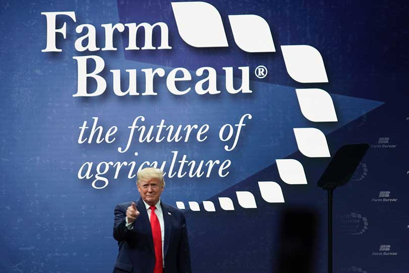 President Trump addressed the American Farm Bureau Federation's annual convention described intentions for a better year ahead for agriculture